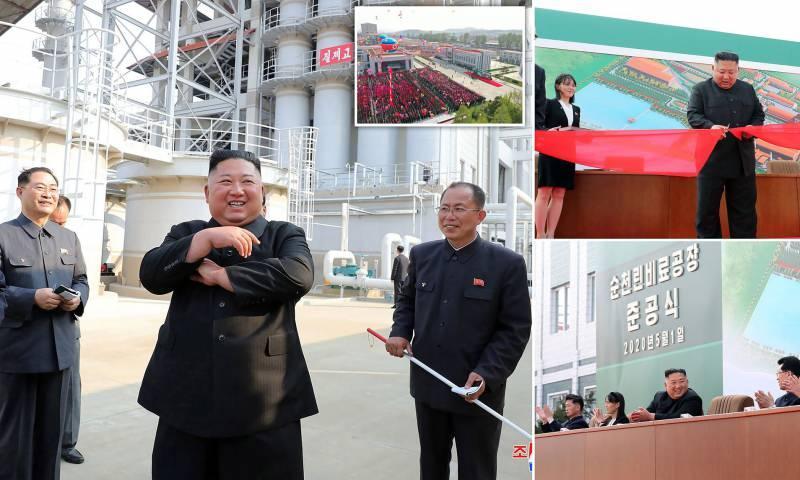 Kim Jong-un gübre fabrikası açtı