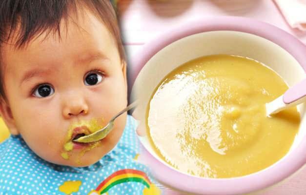 bebeklerde muzlu muhallebi yapımı