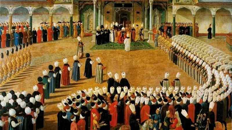 Topkapı Sarayında sergilenen III. Selim Bayram Alayı tablosu