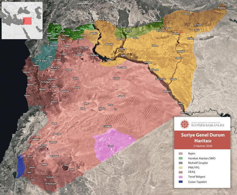 İletişim Başkanlığı'ndan Suriye'deki güncel harita paylaşımı