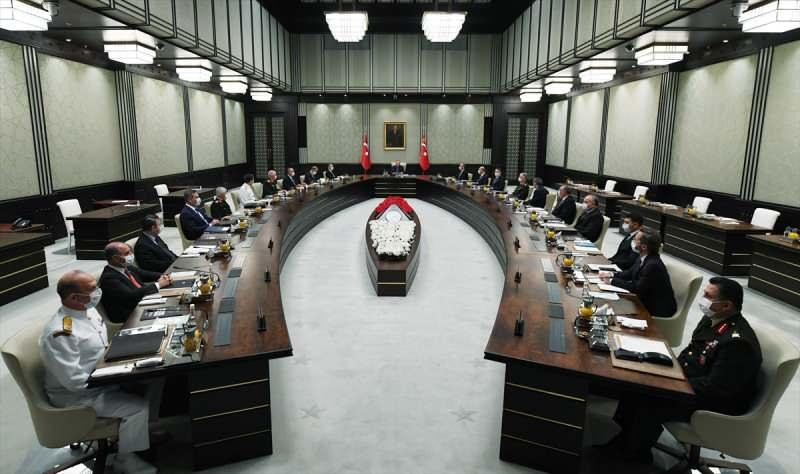 MGK Toplantısı Cumhurbaşkanı Erdoğan'ın başkanlığında toplandı
