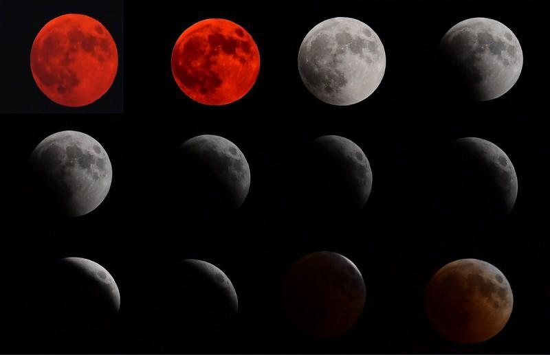 ay tutulma aşamasında farklı renklerle görülecek