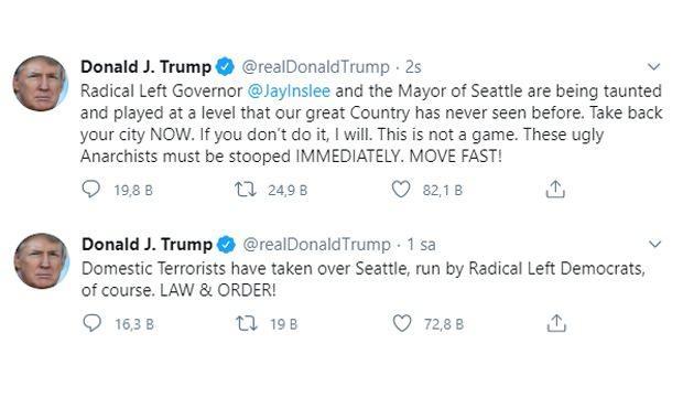 Trump'ın Twitter üzerinden açıklamaları