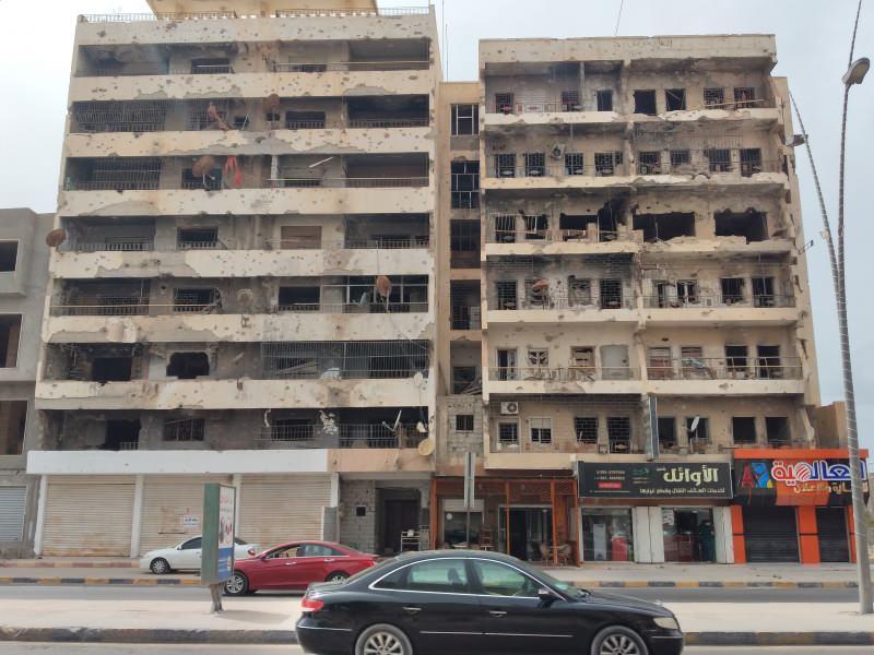 Misrata'da yıkımın izleri