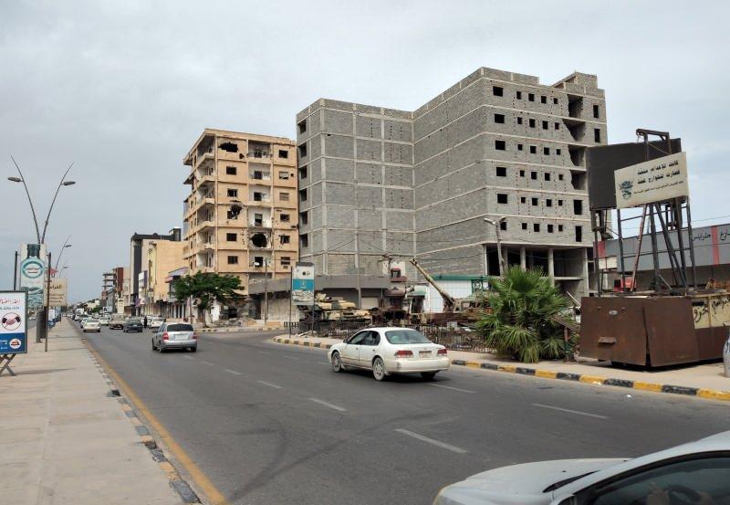 Misrata şehrinden bir görüntü