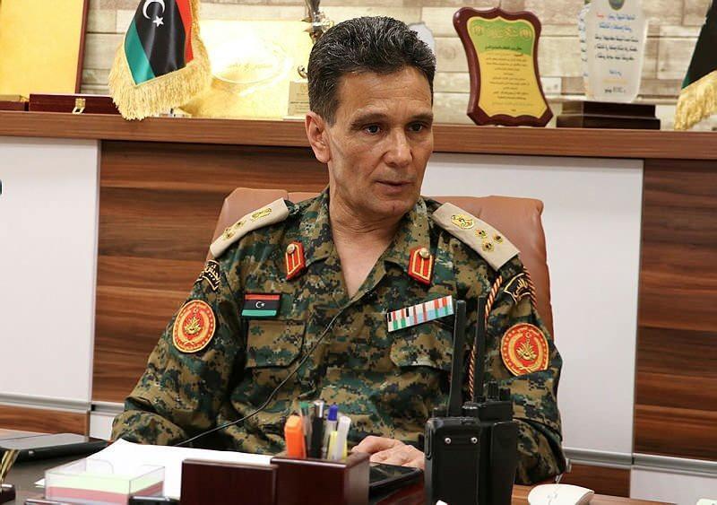 Libya ordusuna bağlı Sirte ve Cufra Ortak Operasyon Dairesi Sözcüsü General Abdulhadi Dırah