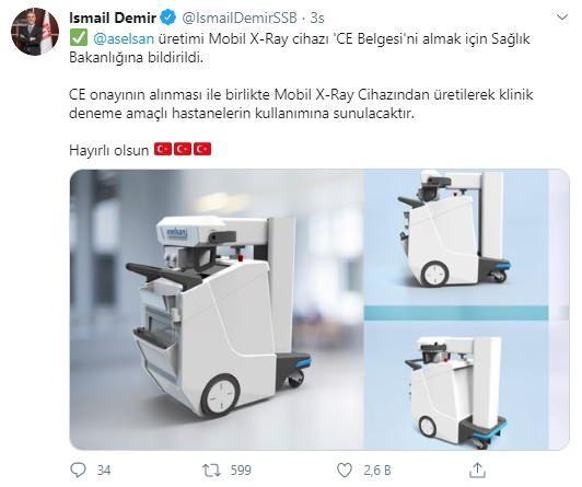 ASELSAN'ın ürettiği mobil x-Ray cihazları