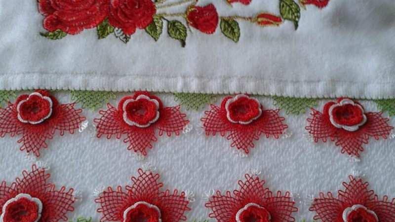 en güzel çiçek motifli havlu kenarı modelleri