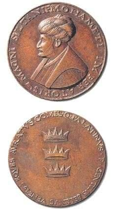 Bronz Fatih madalyonu.