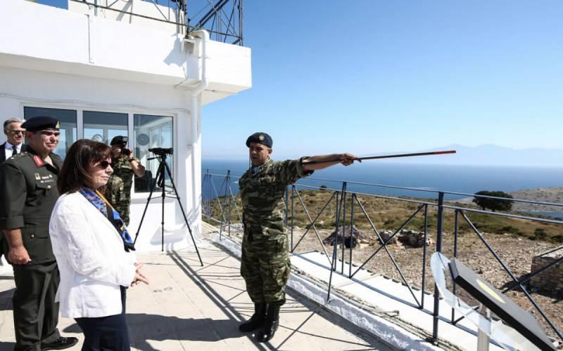 Yunanistan Cumhurbaşkanı'nın ziyaretinden bir kare