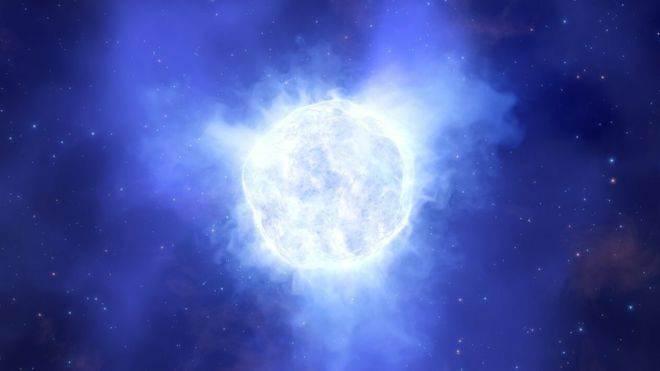 Yıldızın ortadan kaybolmadan önce böyle gözüktüğü düşünülüyor