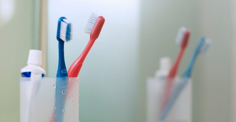Diş fırçası kabı
