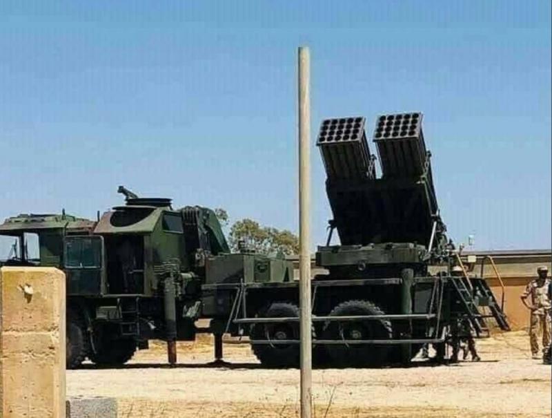 Libya'ya konuşlandırıldığı iddia edilen T-122'lerden biri