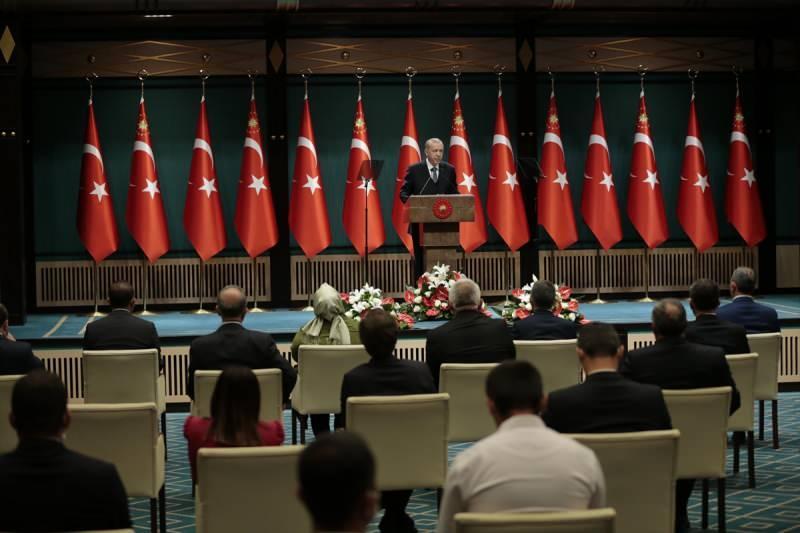 Son dakika: Türkiye Cumhurbaşkanı Recep Tayyip Erdoğan başkanlığında yapılan Cumhurbaşkanlığı Kabine Toplantısı sona erdi. Toplantının ardından Cumhurbaşkanı Erdoğan açıklamalarda bulundu.