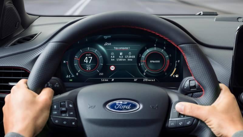 Ford Puma 12.3 Dijital gösterge ekranı