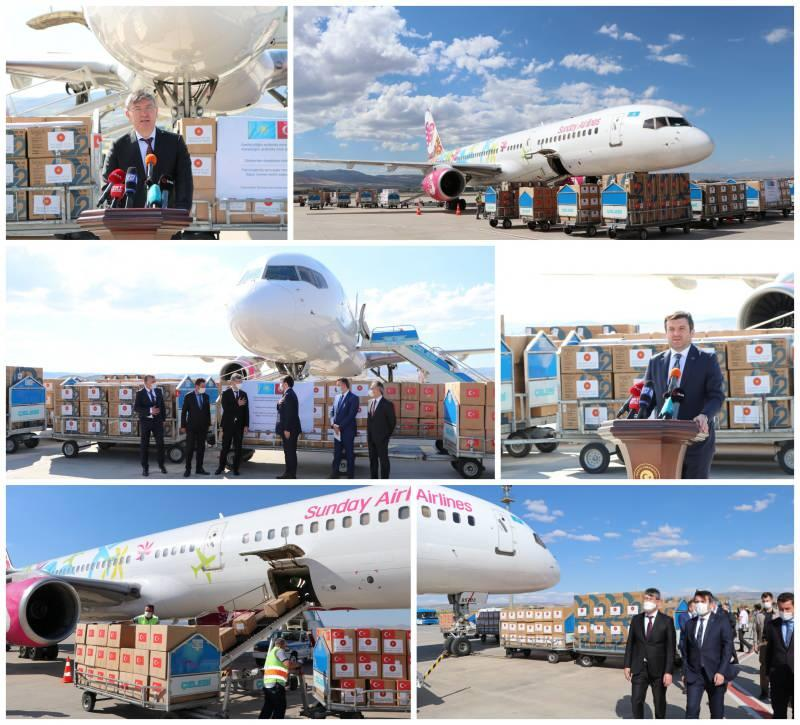 Türkiye'den Kazakistan'a gönderilen yardımlar