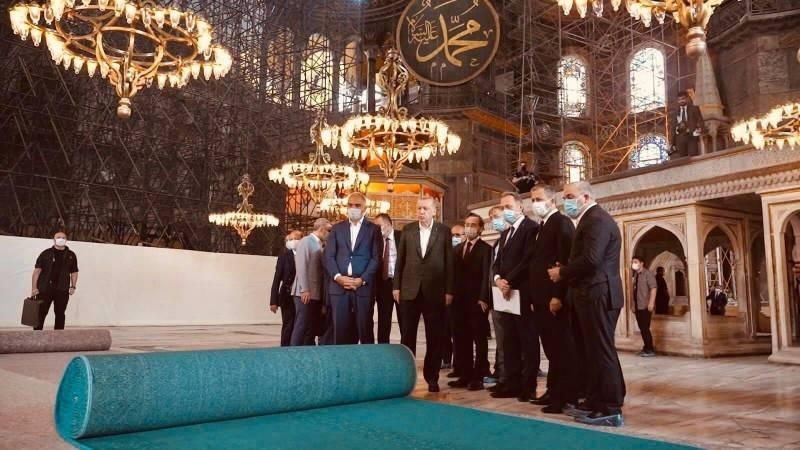 Ayasofya Camii Kebir'in halısı