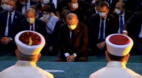 Son dakika: Cumhurbaşkanı Erdoğan, Ayasofya Camii'nde