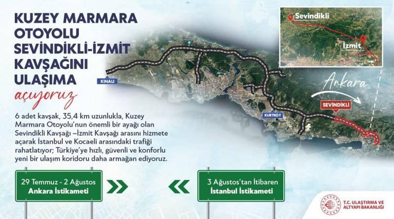 Bakan Karaismailoğlu açıklamasını bu görselle paylaştı.
