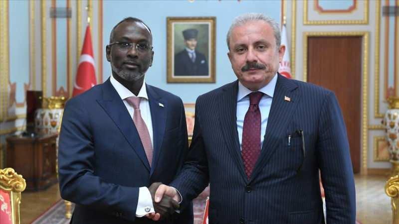 TBMM Başkanı Mustafa Şentop ve Cibuti Ulusal Meclis Başkanı Muhammed Ali Hamed