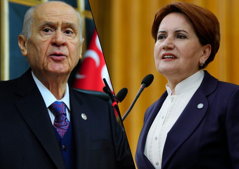 Devlet Bahçeli ve Meral Akşener.