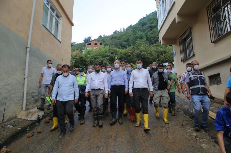 İçişleri, Çevre ve Şehircilik ve Tarım ve Orman Bakanları Giresun'da incelemelerde bulunndu.