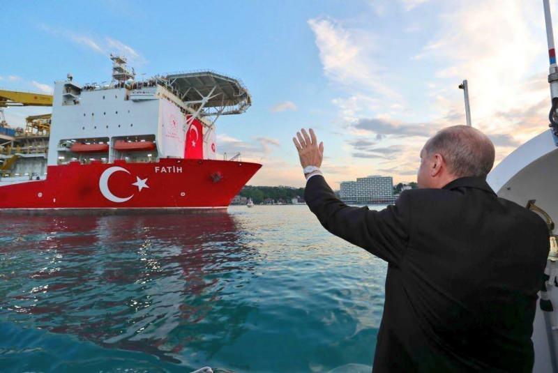 Cumhurbaşkanı Erdoğan, Fatih'i Karadeniz'e uğurlamıştı.