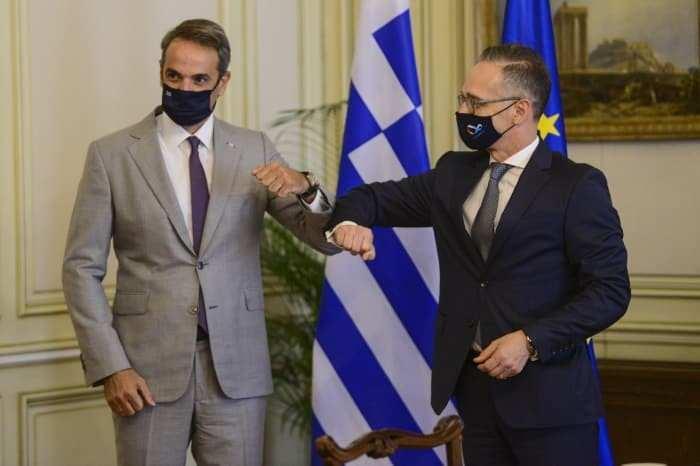 Maas, Yunan Başbakan Miçotakis ile de görüştü.
