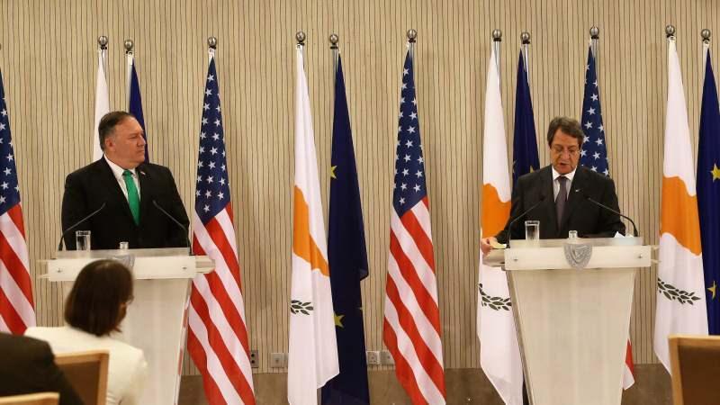 ABD Dışişleri Bakanı Mike Pompeo, Rum Lider Nikos Anastasiadis
