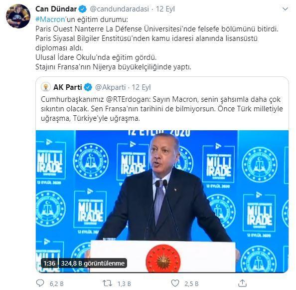 Can Dündar'ın Erdoğan üzerinden Macron güzellemesi büyük tepki çekti - GÜNCEL Haberleri, Haber7