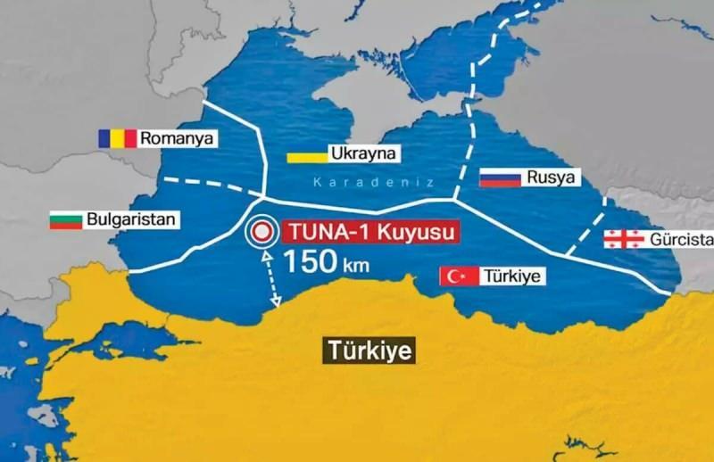 320 milyar metreküplük doğalgaz keşfi Karadeniz'de Zonguldak açıklarında gerçekleşti.