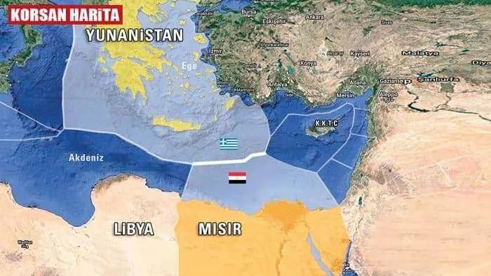 Yunanistan'ın ilan ettiği korsan Sevilla Haritası