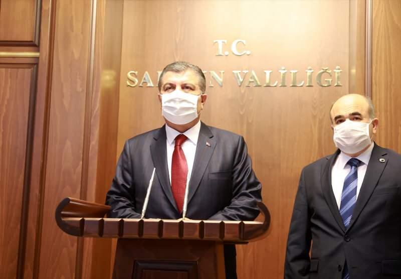 Sağlık Bakanı Fahrettin Koca ve Samsun Valisi Zülkif Dağlı