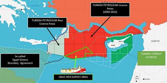 Türkiye'nin ilan ettiği harita