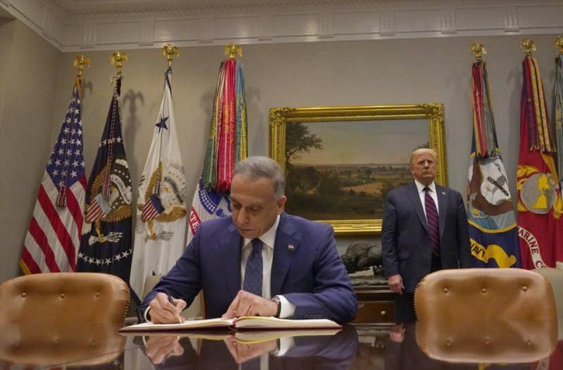 Irak Başbakanı Mustafa el-Kazımi ve ABD Başkanı Donald Trump