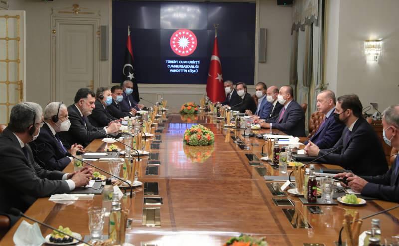 Başkan Erdoğan'ın Fayiz es-Serrac'ı kabul etti