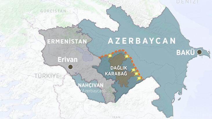 İki ülke arasında yaşanan çıkan çatışmaların haritası