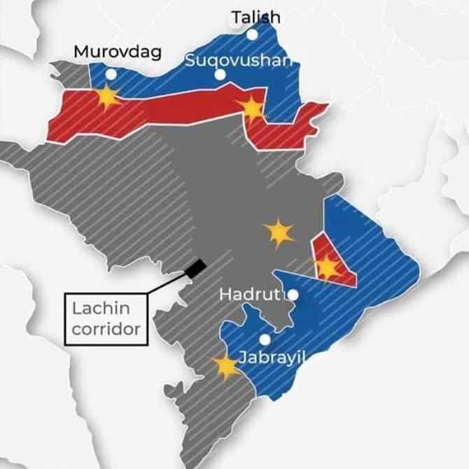 Ateşkese kadar işgalden kurtarılan (mavi ile işaretli) yerler