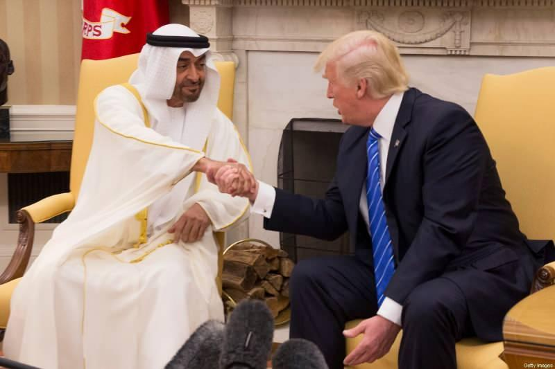 ABD Başkanı Donald Trump, Birleşik Arap Emirlikleri (BAE) Veliaht Prensi Muhammed bin Zayed El Nahyan
