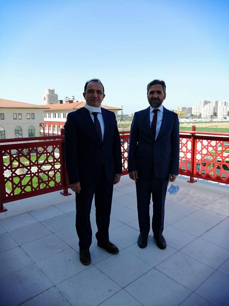 İbn Haldun Üniversitesi Rektörü Prof. Dr. Recep Şentürk ve Haber7 Genel Yayın Yönetmeni Osman Ateşli