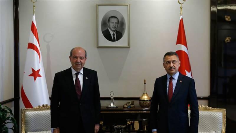 Cumhurbaşkanı Yardımcısı Fuat Oktay, KKTC Cumhurbaşkanı Ersin Tatar