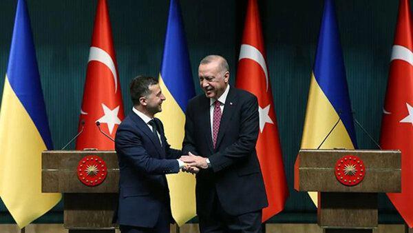 Cumhurbaşkanı Erdoğan ve Vladimir Zelenskiy'i