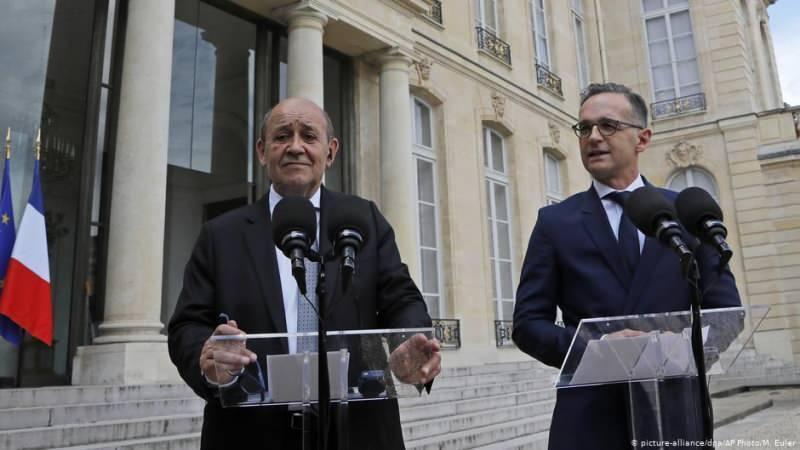 Fransa Dışişleri Bakanı Le Drian ve Alman mevkidaşı Heiko Maas