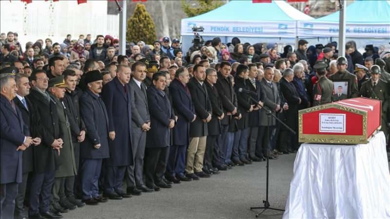 Şehit Emre Baysal için düzenlenen cenaze töreninden bir kare...