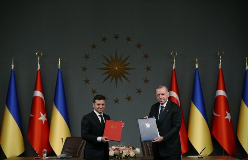 Cumhurbaşkanı Recep Tayyip Erdoğan, Ukrayna Devlet Başkanı Volodimir Zelenski