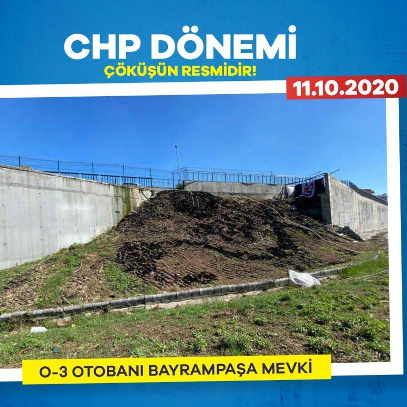 CHP döneminde Bayrampaşa Kavşağı