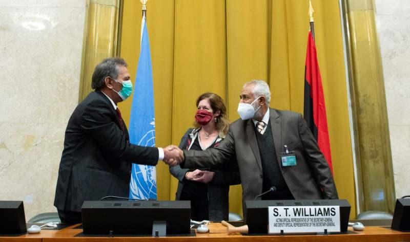 Anlaşma sonrası düzenlenen ortak basın toplantısından bir kare