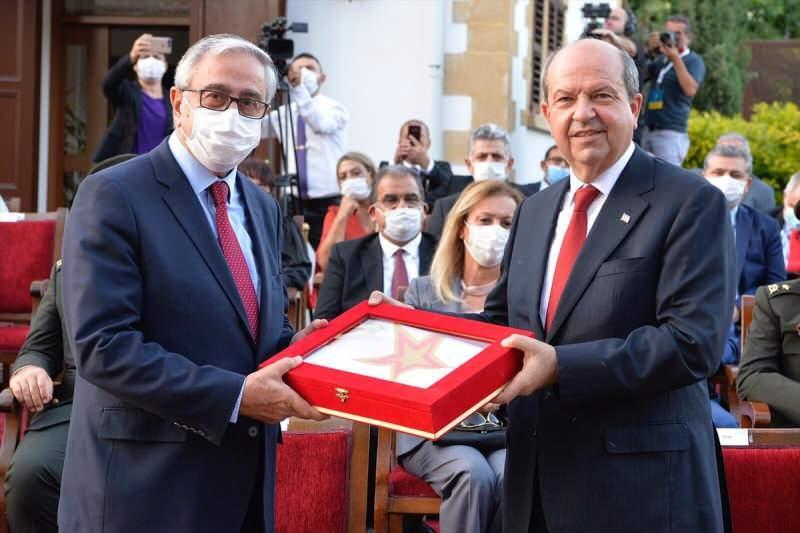 Ersin Tatar ve Mustafa Akıncı