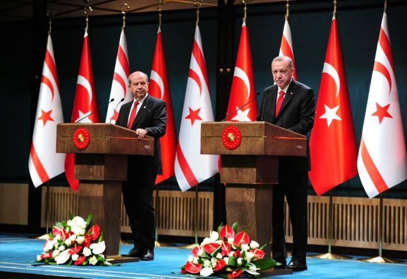 Cumhurbaşkanı Erdoğan, KKTC Cumhurbaşkanı Ersin Tatar