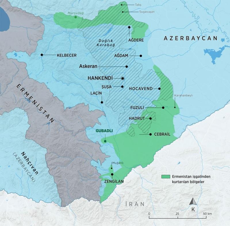 25 Ekim son durum haritası